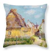 Cottage At Le Vaudreuil Throw Pillow by Gustave Loiseau