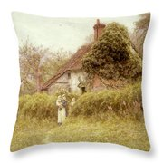 Cottage At Pinner Middlesex Throw Pillow