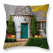 Cottage In The Park Throw Pillow