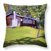 Cottage In Ludow Vermont Throw Pillow