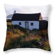 Cottage, Near Dunquin, Dingle Throw Pillow