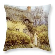 Cottage Near Freshwater  Throw Pillow