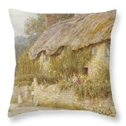 Cottage Near Wells Somerset Throw Pillow by Helen Allingham