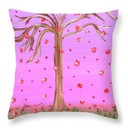 Cotton Candy Sky Wishing Tree Throw Pillow
