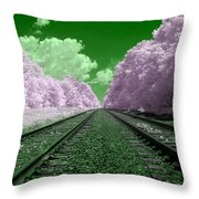 Cotton Candy Trees Throw Pillow