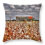 Cotton Field Throw Pillow