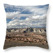 Cottonwood Canyon Badlands Throw Pillow