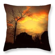 Cottonwood Sunset Throw Pillow