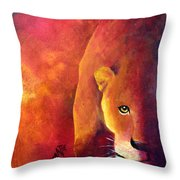 Cougar - Out Of The Shadows Throw Pillow