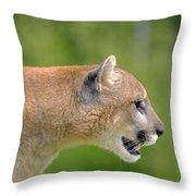 Cougar Profile Throw Pillow