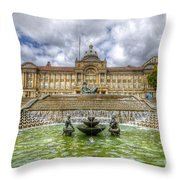 Council House And Victoria Square - Birmingham Throw Pillow