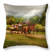 Country - Horse - Life's Pleasures Throw Pillow