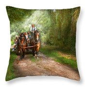 Country - Horse - The Hay Ride  Throw Pillow