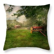 Country - The Crops Almost Ready  Throw Pillow