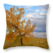 Country Autumn Landscape Throw Pillow by James BO  Insogna