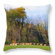 Country Bails Throw Pillow