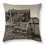 Country Classic Monochrome Throw Pillow