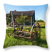 Country Classic Oil Throw Pillow