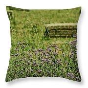 Country Gardens Throw Pillow