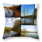 Country Parks Collage Throw Pillow