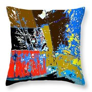 Country Patchwork Throw Pillow