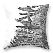 Country Places Throw Pillow