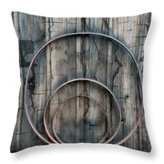 Country Rings Throw Pillow by Susan Candelario