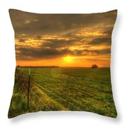 Country Roads Sunset Throw Pillow
