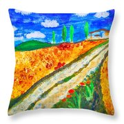 Country Tracks Throw Pillow