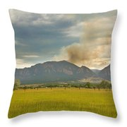 Country View Of The Flagstaff Fire Throw Pillow