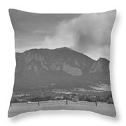 Country View Of The Flagstaff Fire Panorama Bw Throw Pillow