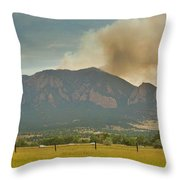 Country View Of The Flagstaff Fire Panorama Throw Pillow