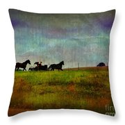 Country Wagon 2 Throw Pillow