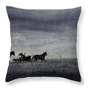 Country Wagon Throw Pillow by Perry Webster