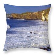 County Antrim, Ireland Seascape With Throw Pillow