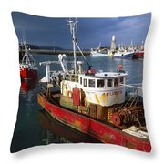 County Waterford, Ireland Fishing Boats Throw Pillow