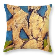 Couple In Landscape Throw Pillow