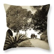 Couple On The Bench In Venice Throw Pillow by Madeline Ellis