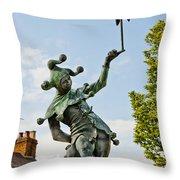 Court Jester Throw Pillow
