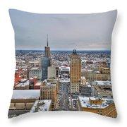 Court St Snow Throw Pillow