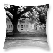 Courthouse And Town Square- Woodville Mississippi Throw Pillow