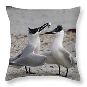 Courtship Throw Pillow