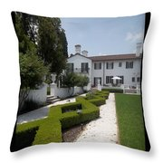 Courtyard At Crane Zig Zag Maze Throw Pillow