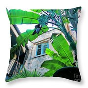 Courtyard Feelings Cafe Nola Throw Pillow