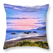 Cove On The Lost Coast Throw Pillow
