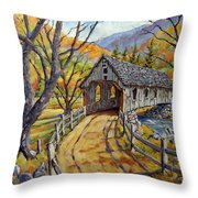 Covered Bridge 04 Throw Pillow
