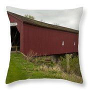 Covered Bridge Zumbrota 1 Throw Pillow