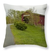 Covered Bridge Zumbrota 3 Throw Pillow