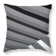 Covered B/w Throw Pillow