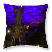 Covered Stretch Of Clarke Quay With Restaurants And Other Attrac Throw Pillow